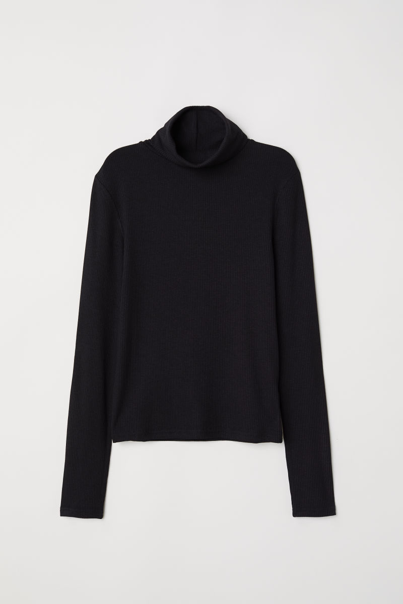 H&M RIBBED TURTLENECK