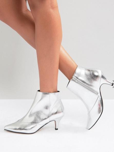 Metallic Kitten Heel