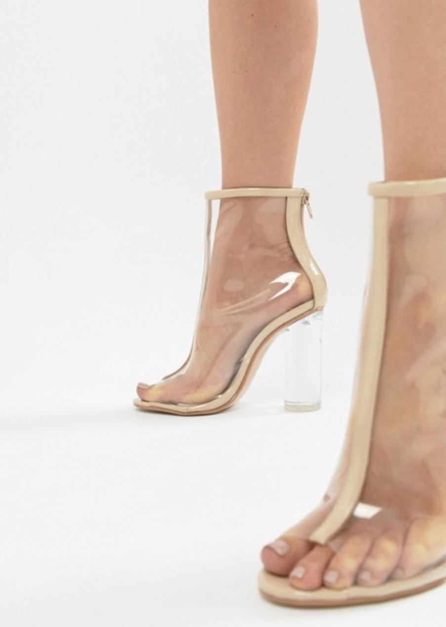 Public Desire Tame Clear Heels