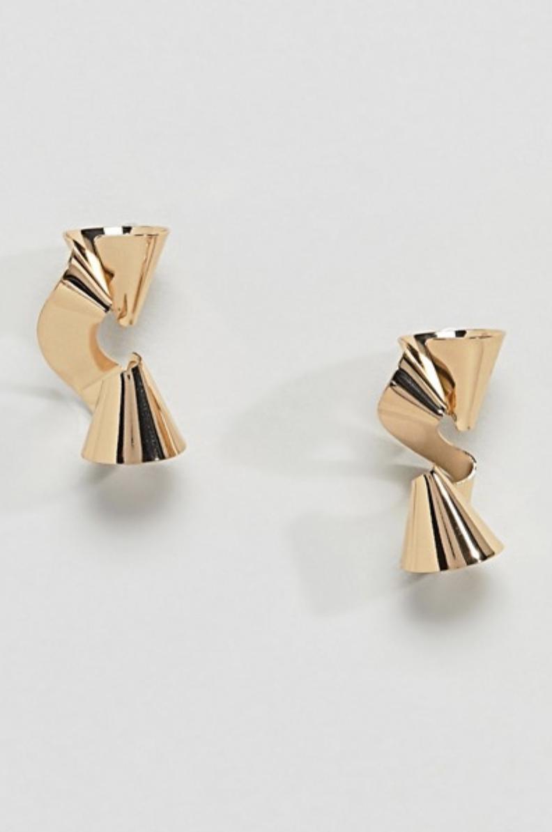 Metal Twist Earrings
