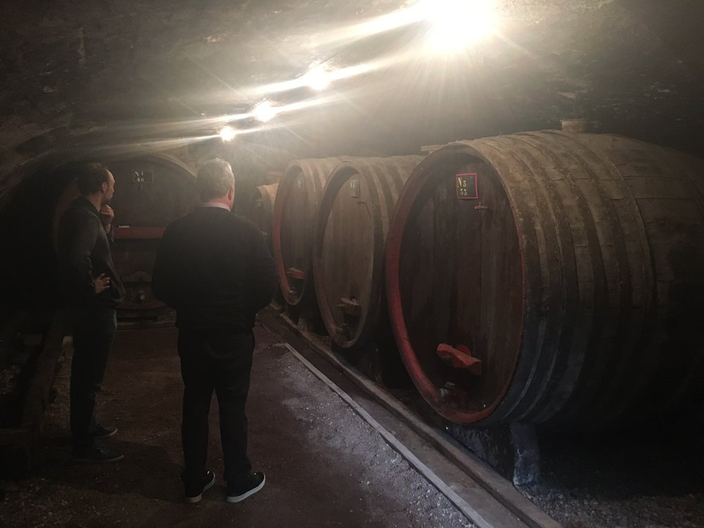 theres no wine in these ancient barrels yet, but next year they'll be filled with wine