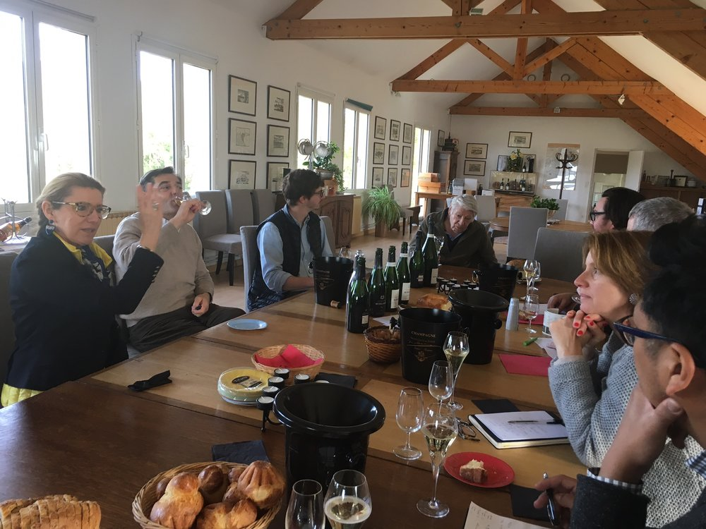 tasting with three generations of the Michel Gonet family
