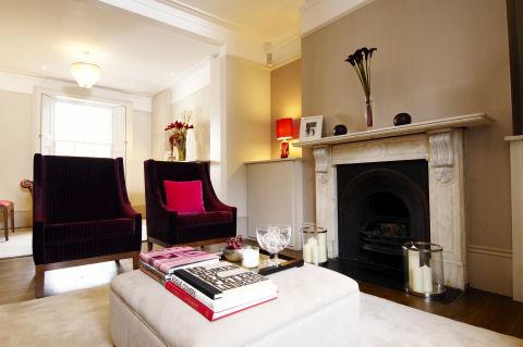 Velvet covered furniture by Marie's Corner