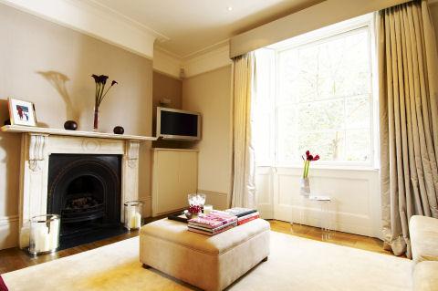 a minimal gas fireplace