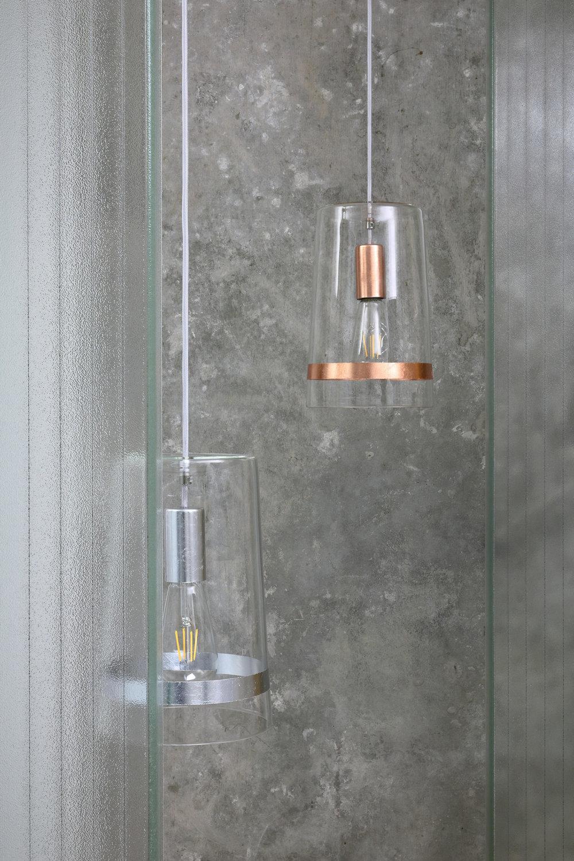 C1 glass silver and copper.