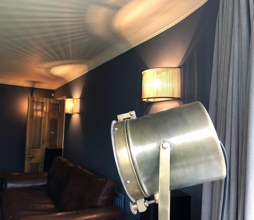 Sourced vintage floor lamp.