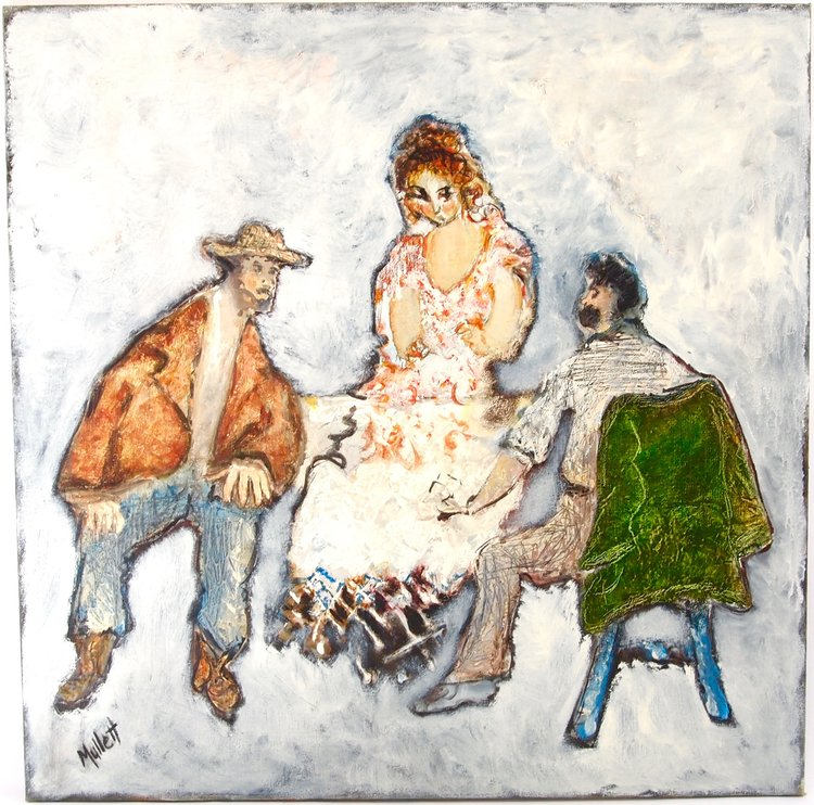 Three Figures at a Table