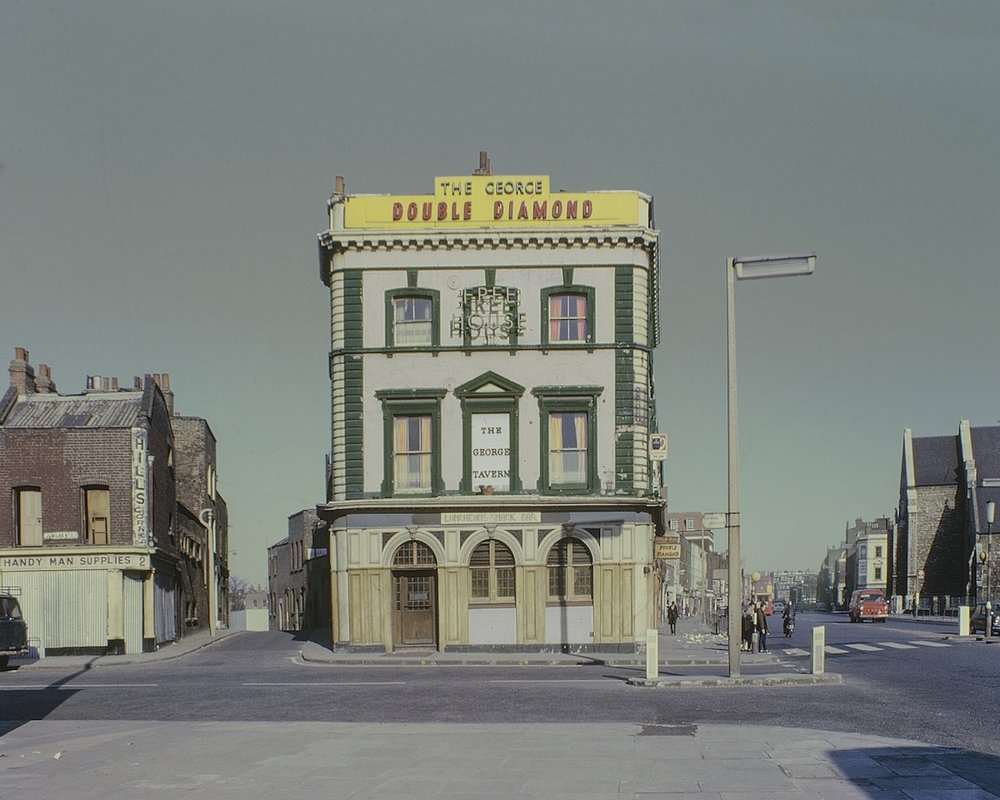 The George Tavern, Commercial Road in 1969 CREDIT: DAVID GRANICK/ DAVID GRANICK © TOWER HAMLETS LOCAL HISTORY LIBRARY & ARCHIVES