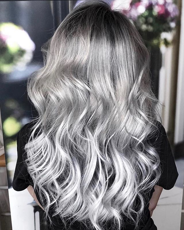 J Beverly Hills Silver Hair by @1conceptyourbeautymasters !  _ _  #silverhair #greyhair #longhair #wavyhair #sexy #hair #haircolor #haircolour #healthy #hair #hairpainting #behindthechair #modernsalon  #allaboutdahair #readytogo #balayage #yourhairisyourcrown #onfleek #hairblogger #worldwide  #hairdresser #wednesday #motivation #jbeverlyhills #jbeverlyhillseurope