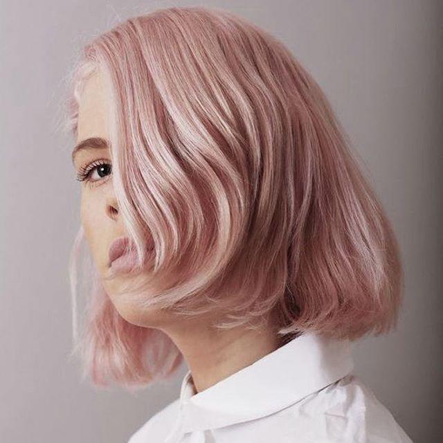Millennial Pink!  _ _  #hairinspo #millennial #pink #hair #pinkhair #fashioncolor #jbeverlyhills #blush #softpink #candy #bubblegum #onfleek #haircolour #haircolor #streetstyle #hairblogger #behindthechair #modernsalon #hairdresser #hairpainting #balayage #bob #hairstyle #tumblrpink #makeup #trending #sophisticated #classic #jbeverlyhillseurope