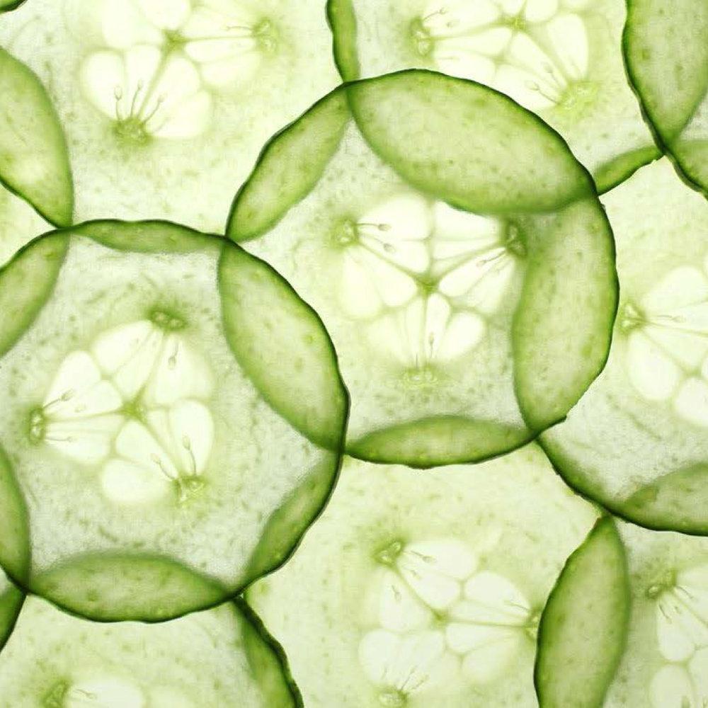 Komkommer<strong>Komkommer is rijk aan antioxidanten, heeft een helende, verzachtende werking.</strong>