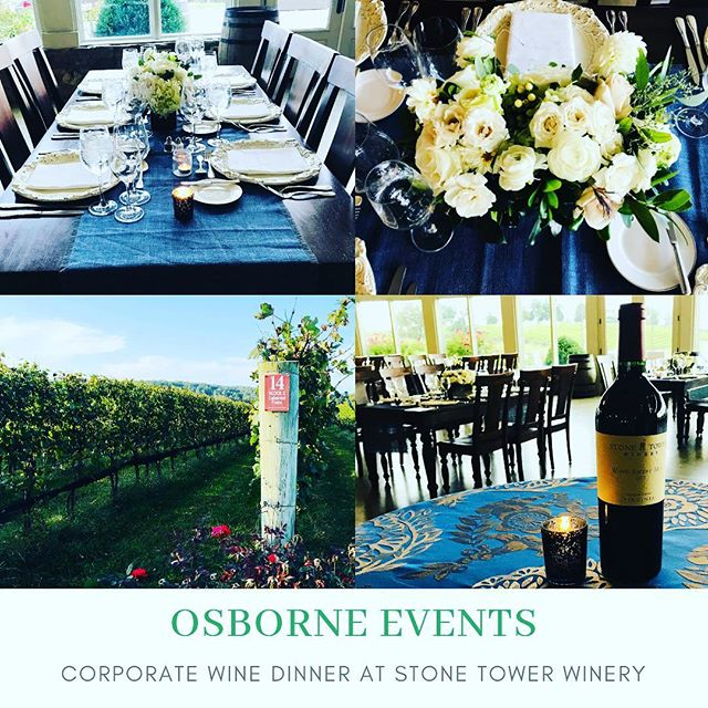 @osborneevents @stonetowerwinery amazing vineyard views & new wine release for corporate wine dinner. Experience Loudoun Wine Country with us! #corporateevents #virginiawine #virginiawinecountry #loudounwine #stonetowerwinery #windswepthillwine