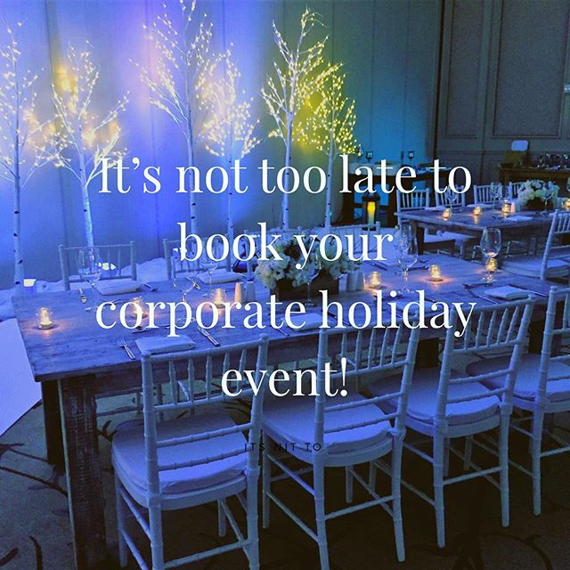 Make it magical! Call @osborneevents to book your holiday party! #corporateevents #holidayparty #loudouncounty #loudounwines #winterwonderland