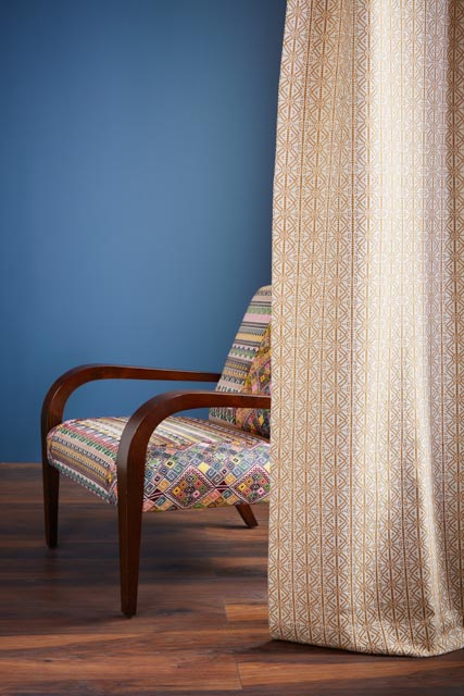 A Rum Fellow - Poxte Falseria Fabric - Mostaza & Antigua Arm Chair.jpg