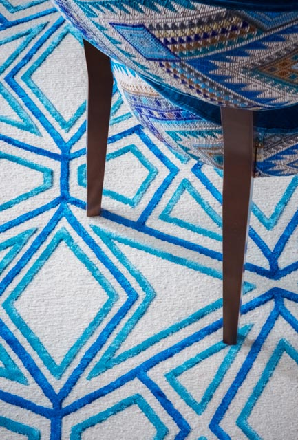 Asca Rug, Matlock Chair with Coyolate Azul Brocade Fabric, - A Rum Fellow.jpg