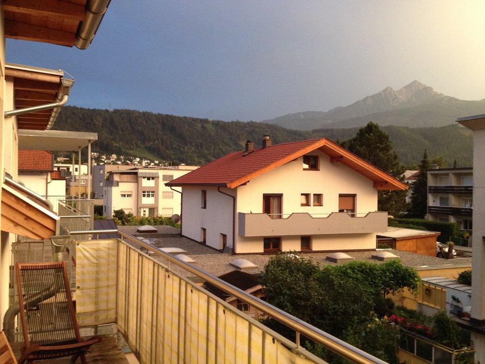 Balcony at dusk