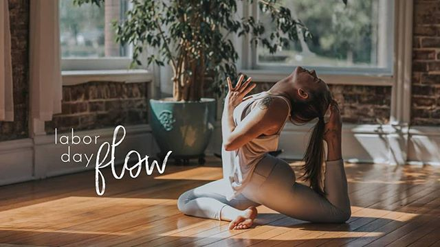 We are open all weekend!! Come flow, breathe, and move. ✨  Regular class schedules for Sat/Sun. All of Monday's classes are cancelled besides a special heated vinyasa at 8:30a with @jiannahoss! 💜 #laborday #flow #ekapadarajakapotasana
