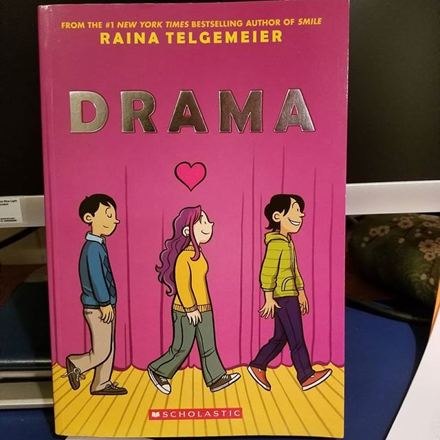 Celebrating #BannedBooksWeek with the very dangerous #Drama by @goraina .  Seriously, the #ALA  says this book was one of the top ten books banned in America in #2017 📚 📚 #BanningBooksFuelsIgnorance #Bookstagram #BookLove #Read #ReadBetter #ReadwithyourKids
