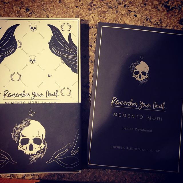 I was captivated last year by the #mementomori posts that @pursuedbytruth was doing so naturally I had to get these when they came out. #rememberyourdeath #lent #meditations #scripture #prayer