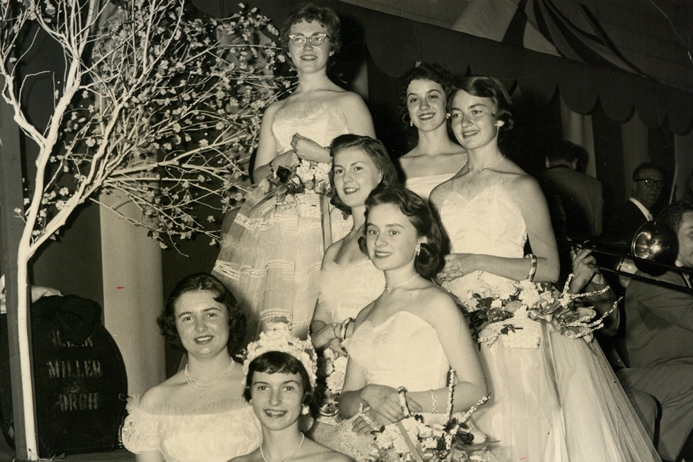 A Tradition Since 1957 - A time-honored tradition in Springfield, the Apple Blossom Cotillion. That first year, seven high school seniors, all dressed in white gowns, competed for the title of Apple Blossom Queen.