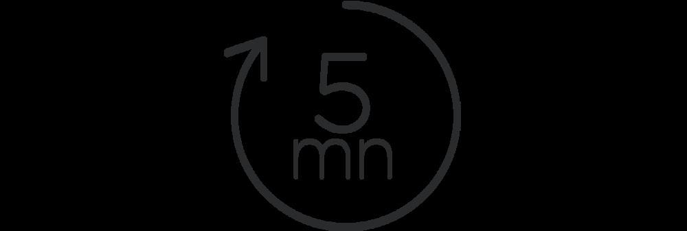 Un devis en 5 minutes - Nos équipes sont à votre disposition pour vous répondre et vous envoyer un devis dans les 5 minutes.