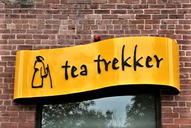 Custom made outdoor signage for Tea Trekker in Sunderland, MA