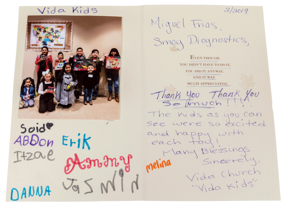 Smog Diagnostic Specialists  2018 Holiday Toy Drive