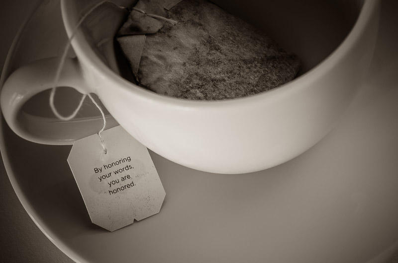 Tea Bag Wisdom, Digital Photography, Copyright © 2015