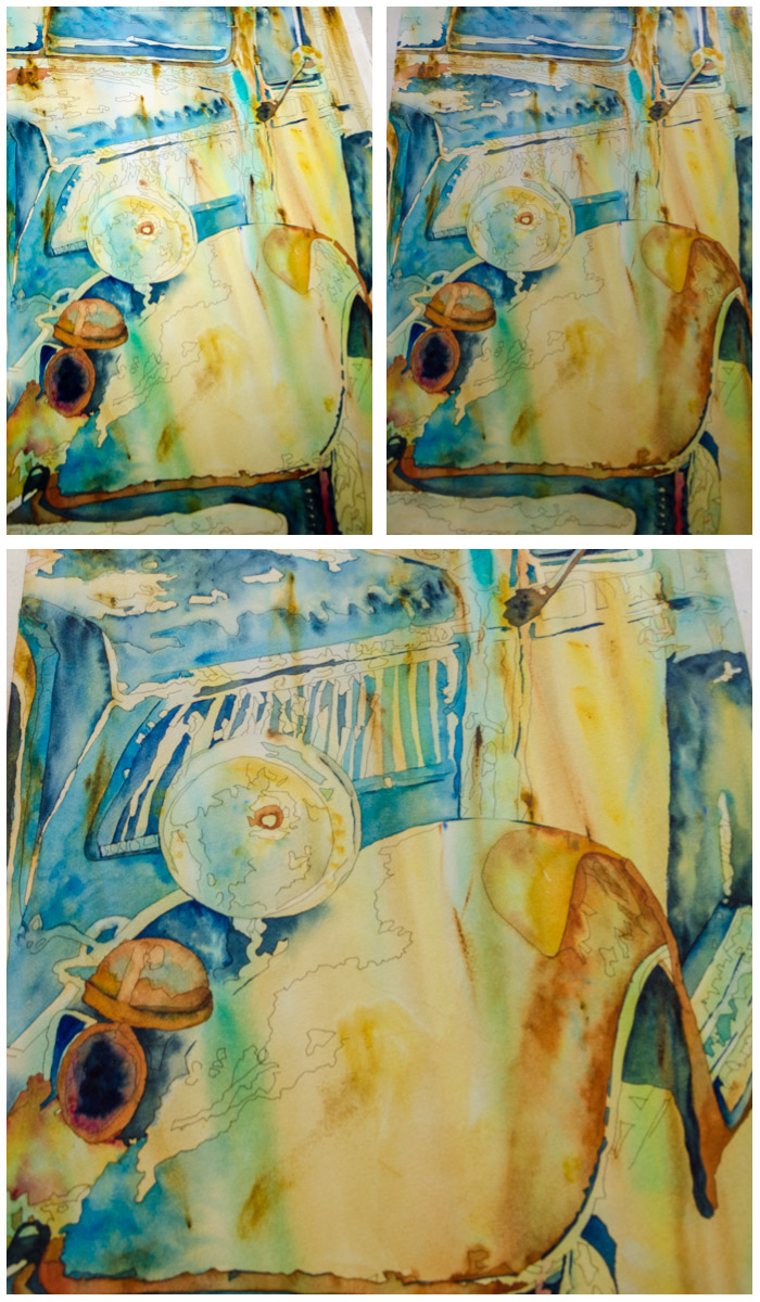 15 Minute Challenge Days 4-6 Watercolor, SuZan Alexander