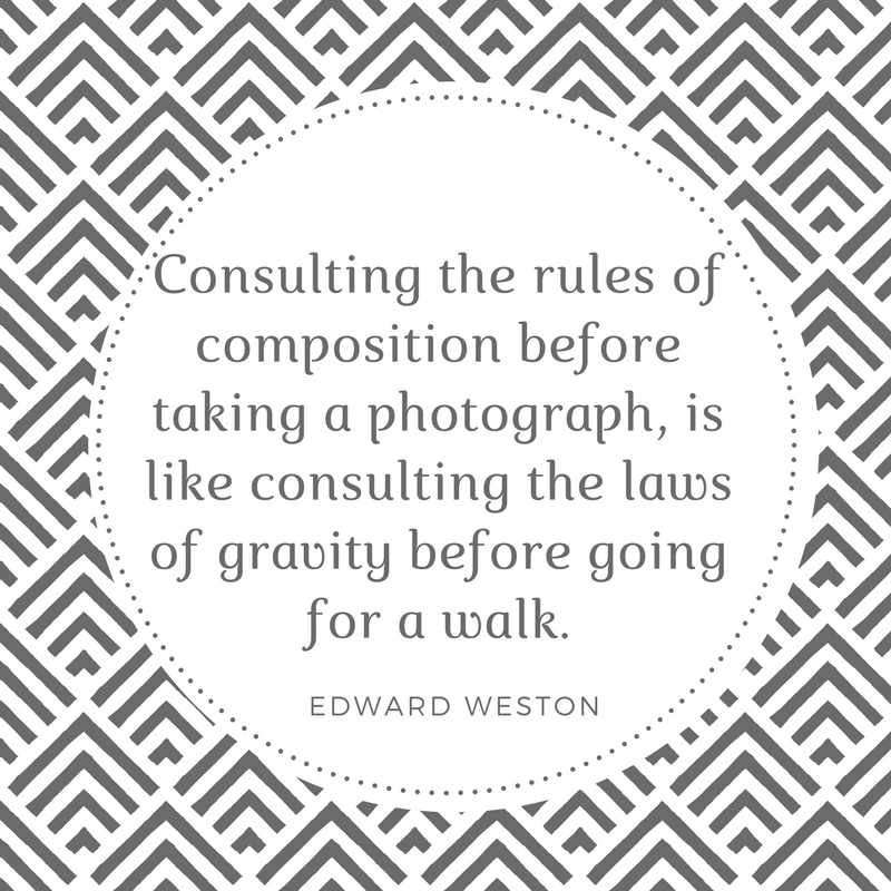 Edward Weston Quote on Composition