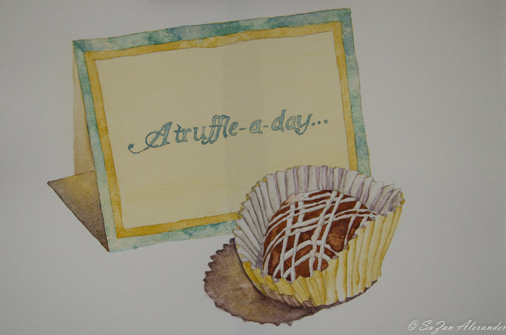 Watercolor Project 2: Truffle and Notecard
