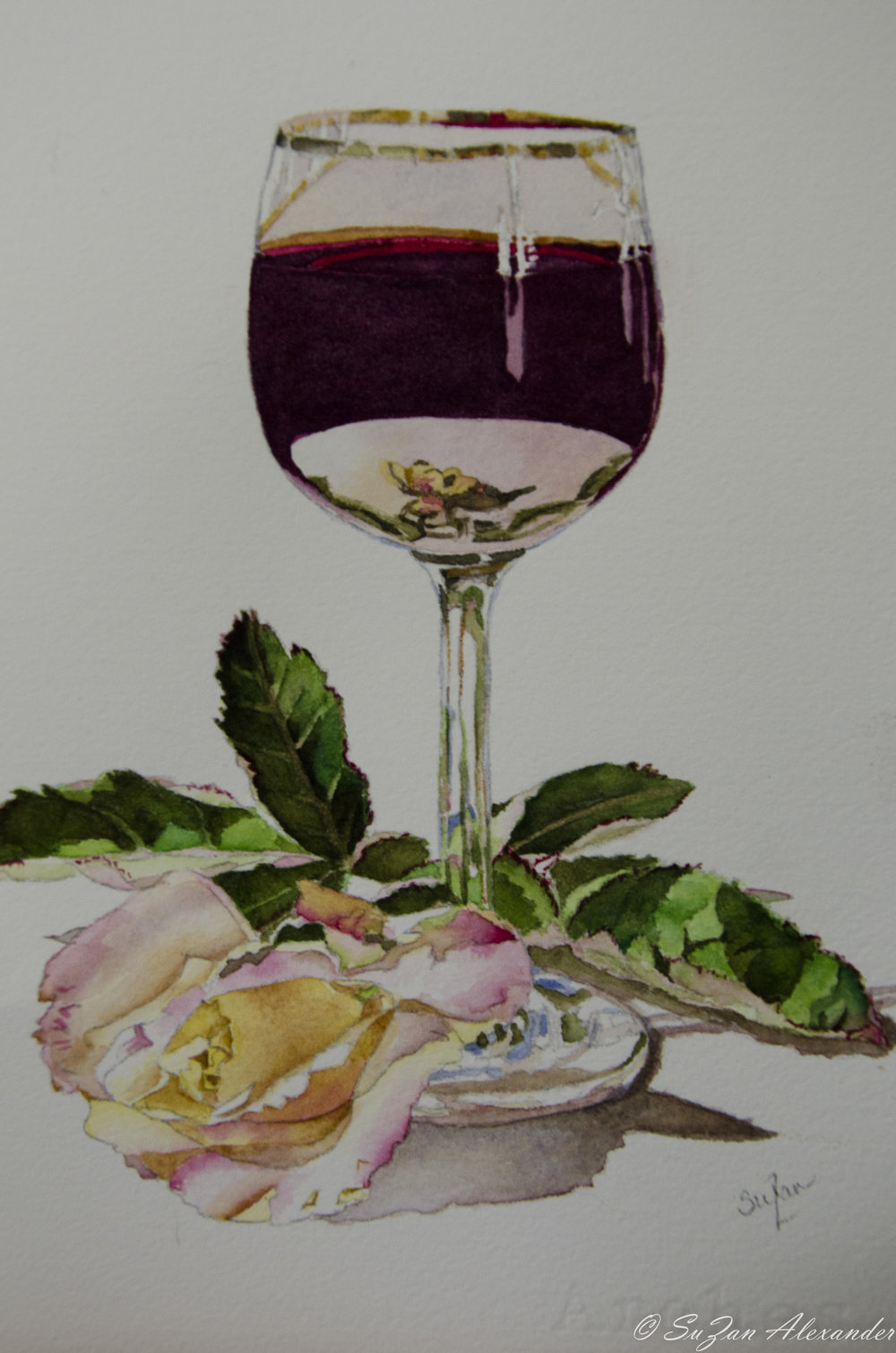 Watercolor Project 4: Wine Glass