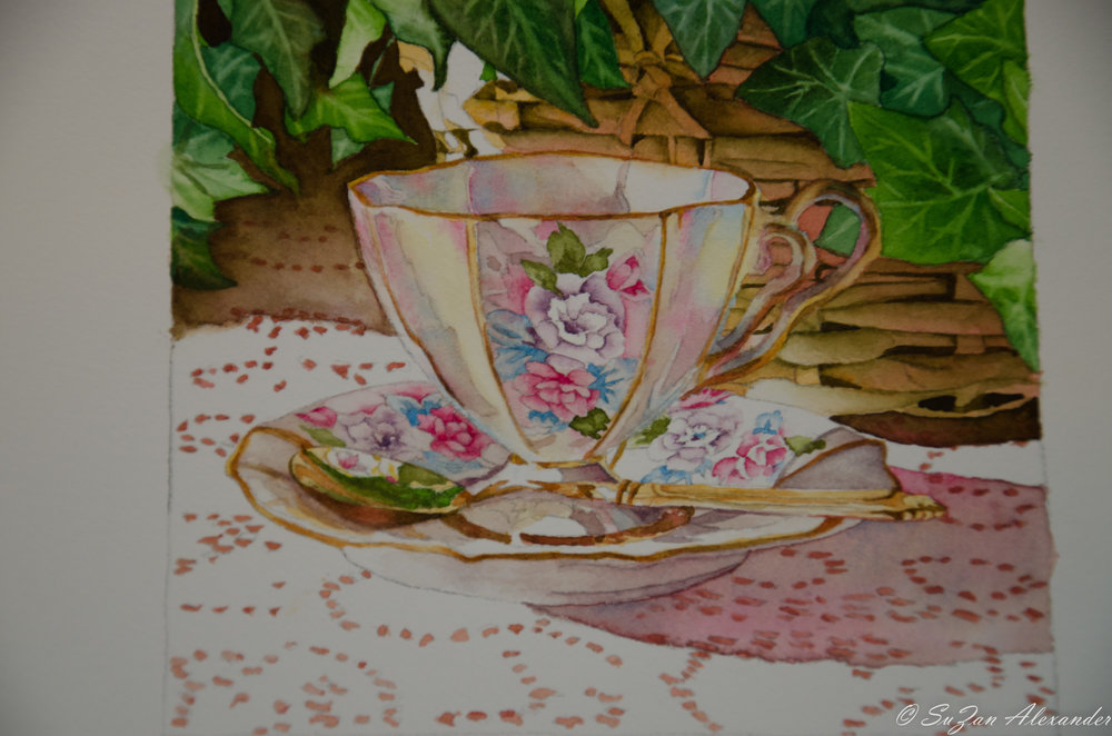 Watercolor Project 7: Teacup with Golden Spoon