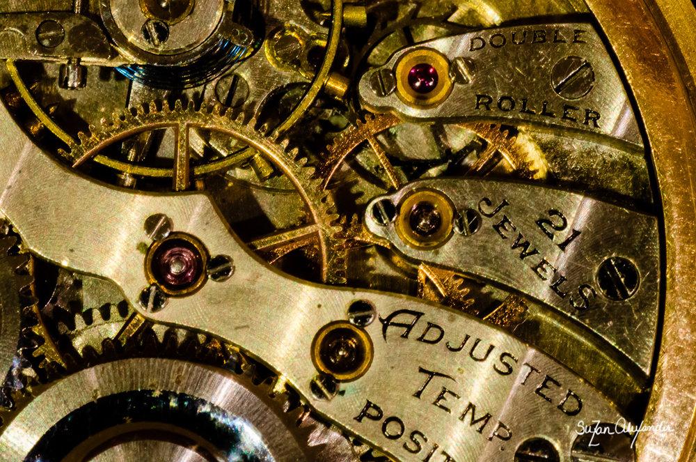 Macro of Pocket Watch, Digital Photography © 2013 SuZan Alexander