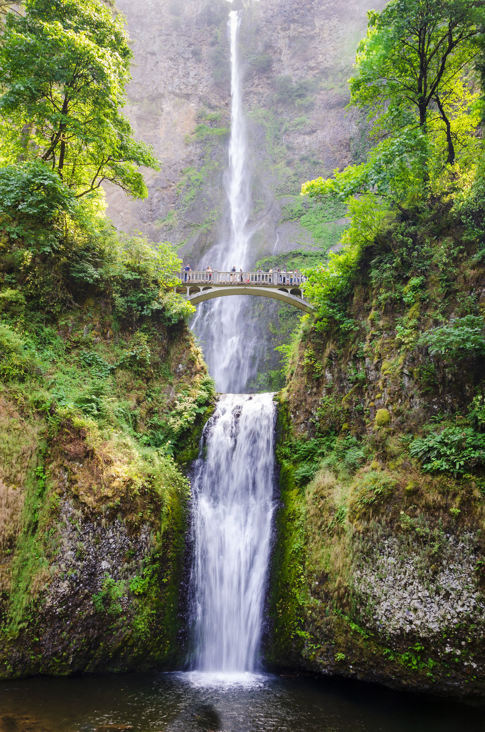 Multnomah Falls Oregon - Symmetry Example without Line of Symmetry     -     Digital Photography, © 2012 SuZan Alexander