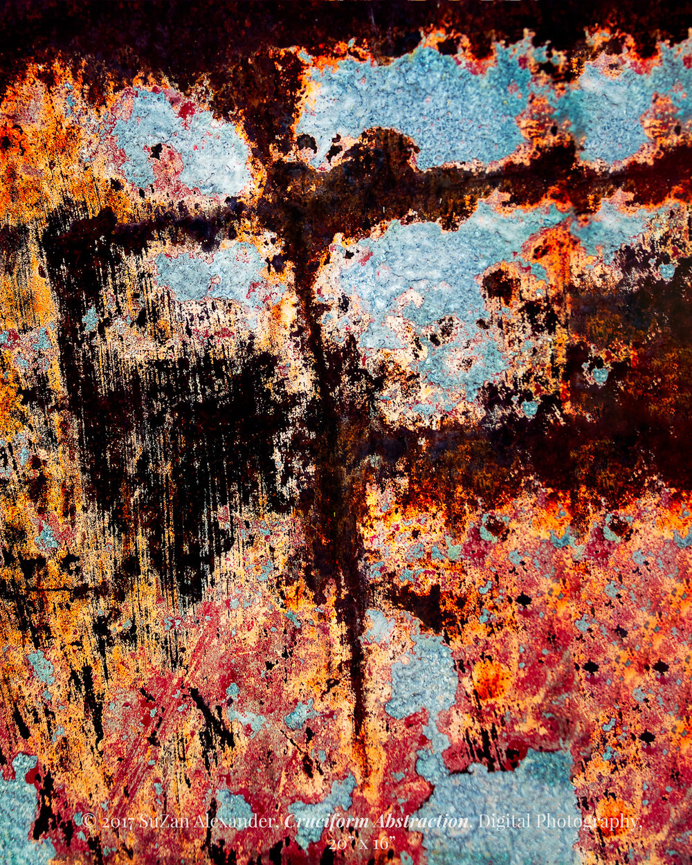"""Cruciform Abstraction 20"""" x 16"""""""