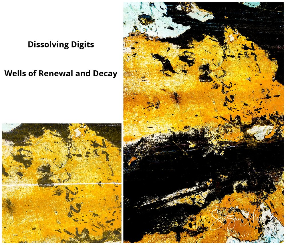 © 2015 SuZan Alexander. Dissolving Digits Collage. Digital Photography. Wells of Renewal and Decay Series.