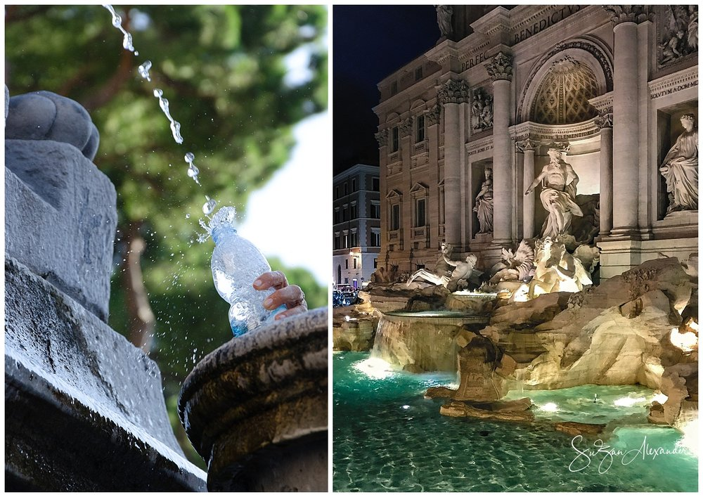 © 2018 SuZan Alexander. Rome Fountain Collage. Digital Photography