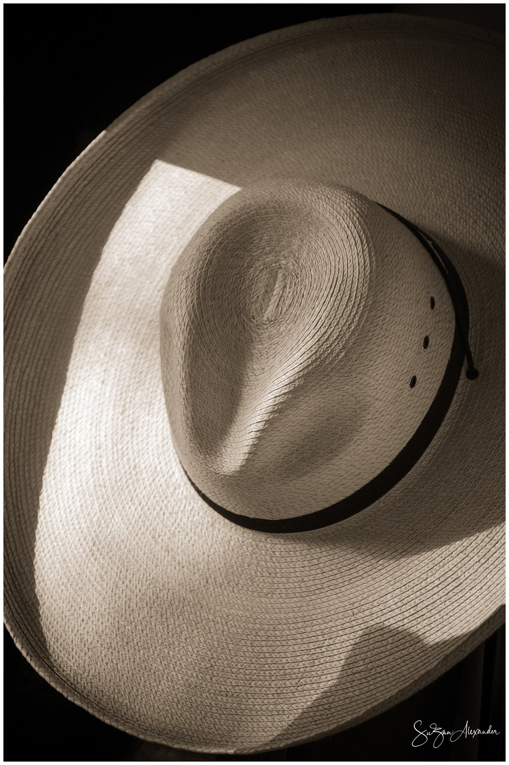 © 2018 SuZan Alexander.   Hat in Evening Shadow and Light I  . Digital Photography.