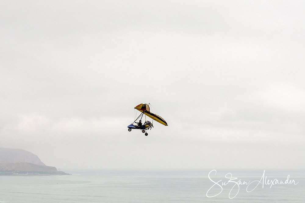 © 2018 SuZan Alexander.   Gliding Above Lima Peru.   Digital Photography.