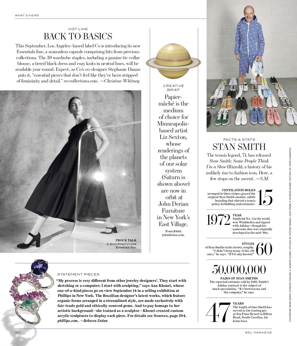 WSJ Magazine September 2018 Feature | Gioconda Tanzanite Ring, Pink Sapphire Mirian Ring, Emerald Marcia Ring.jpg