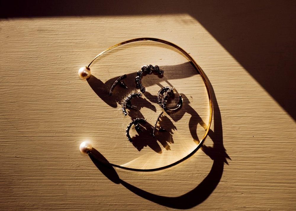 The Coveteur November 1, 2018 Pearl Jane Necklace, Diamond Mirian Earrings, Diamond Marie Cuff, Diamond Gioconda Earrings, Diamond Mirian Ring 8.jpg