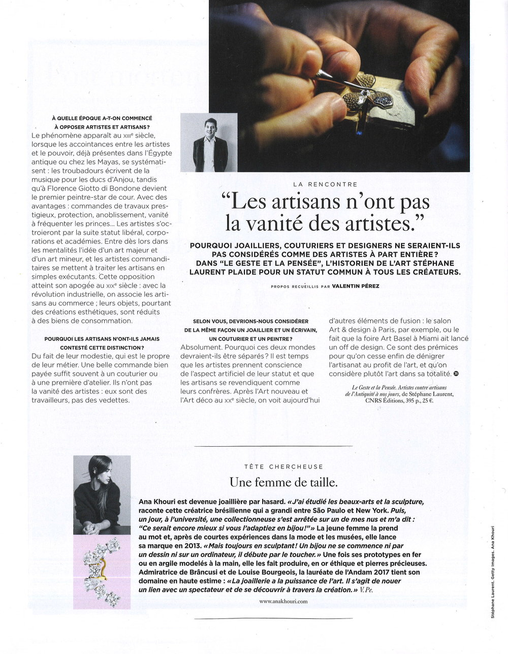 M LE MONDE, January 26th 2019 Feature & Diamond Georgia Ear Piece.jpg