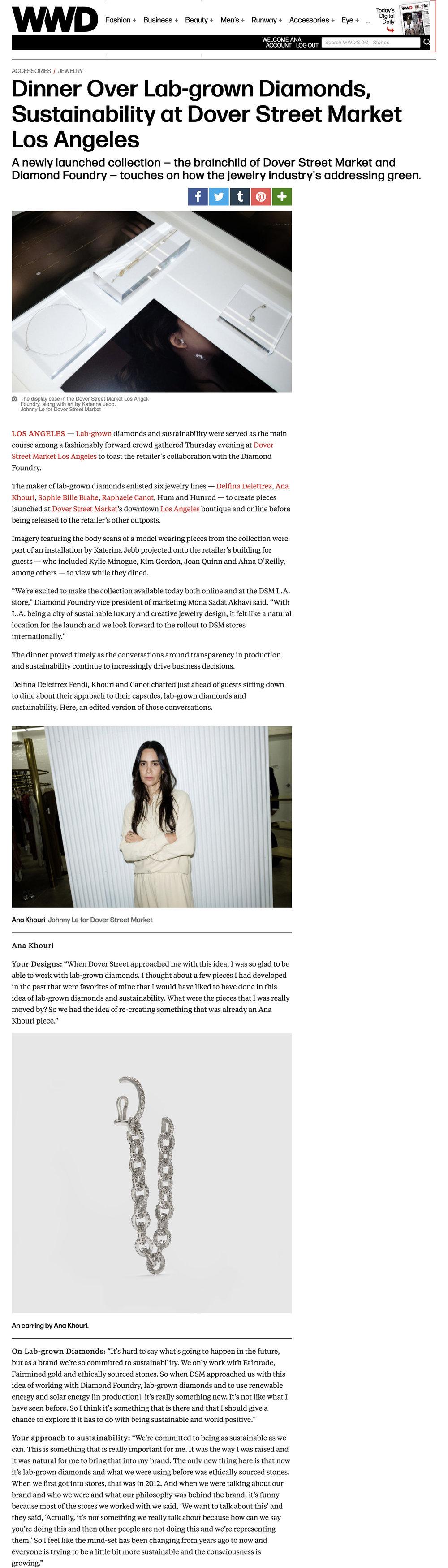 Women's Wear Daily Online May 1, 2019 Diamond Foundry.jpg