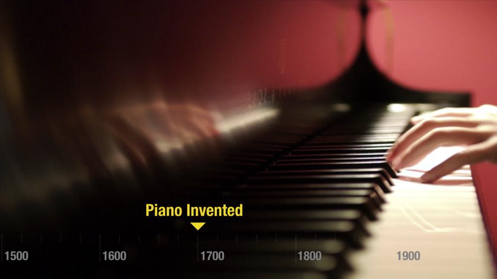 piano invented 1700