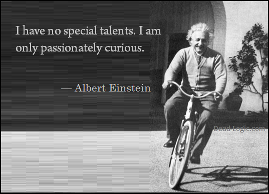 einstein passionately curious