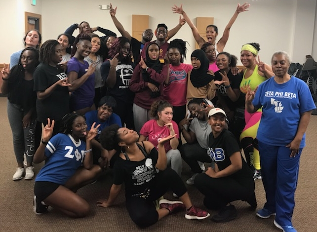 Zumba Event with the ladies of Zeta Phi Beta Sorority, INC.