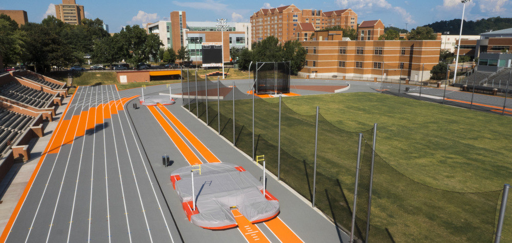 University of Tennessee - Tom Black Track   The Tom Black Track at the University of Tennessee in Knoxville is home of the Vols and Lady Vols Track and Field competitions, and has hosted many other prestigious events such as multiple SEC Championships, NCAA National and Regional Chamionshios, and USA National Championships.