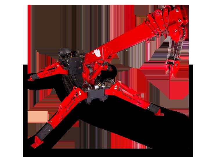 Spider Crane URW 547 Load Charts
