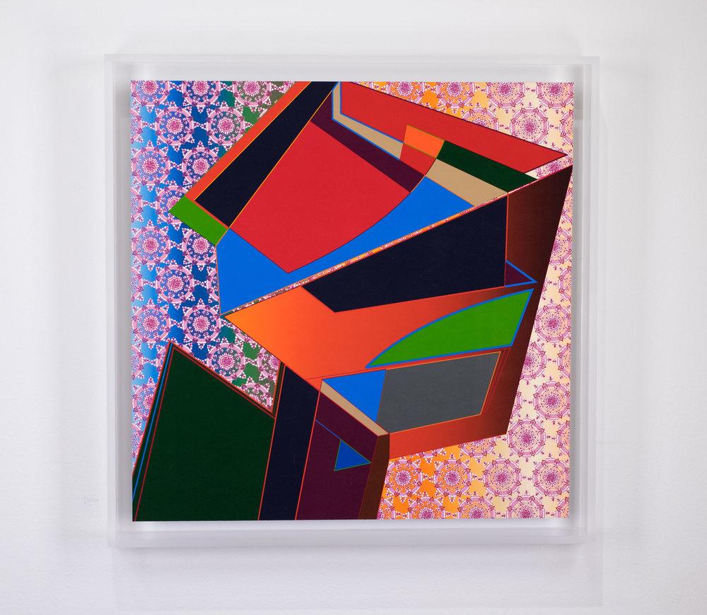 FRESH PRINTS NINE, 2018, 13 x 13 inches framed